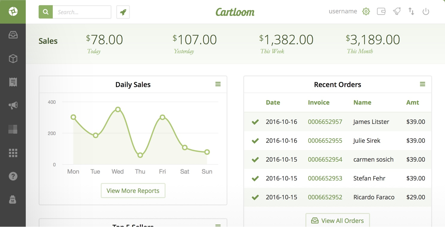Cartloom ecommerce feature