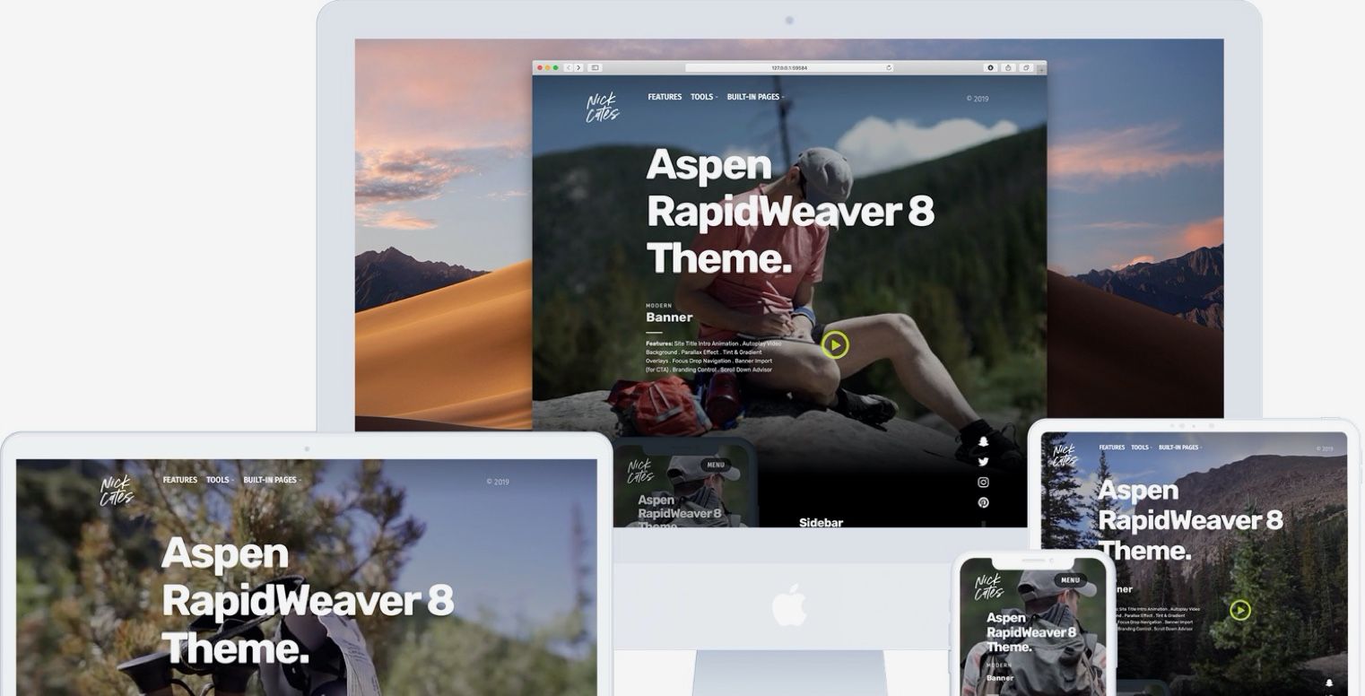 RapidWeaver Themes and Stack Addons