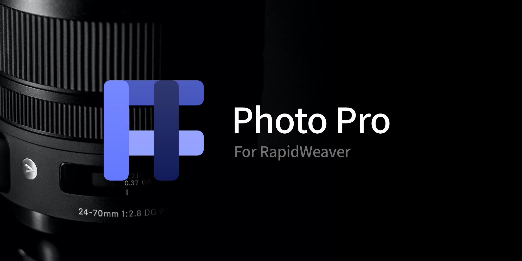 Photo Pro for RapidWeaver